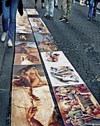 Italian Shopping Posters - Florence Street Art Poster by Jennie Breeze