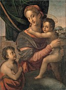 Drapery Prints - Florentine Artist, Madonna And Child Print by Everett