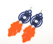 Perspex Jewelry Jewelry - Florentine Earrings Blue And Orange Earrings by Rony Bank