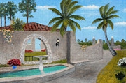 Historic Home Painting Prints - Florida Charm Print by Gordon Beck
