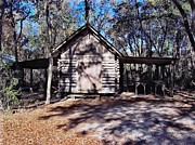 Shed Digital Art Posters - Florida Cracker Wood Shed Poster by D Hackett