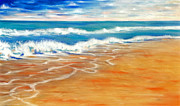 Beach Pastels Originals - Florida Fields by Dennis Rennock