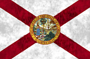 Florida Digital Art Posters - Florida Flag Poster by World Art Prints And Designs