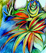 Florida Flowers Drawings - Florida Flower 1 by Joy Calonico