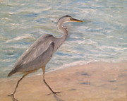 Marx Paintings - Florida Heron by Christine Marx