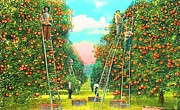 Annette Allman - Florida Orange Pickers...