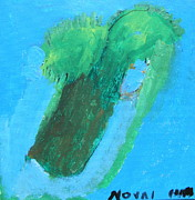 Autism Art Posters - Florida Palm Poster by Norval Hall