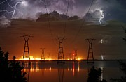 Photographer Lightning Photo Prints - Florida Power and Lightning Print by Lynda Dawson-Youngclaus