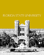 Florida State University - Gold Print by DB Artist