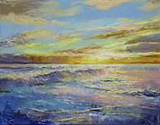 Impasto Posters - Florida Sunrise Poster by Michael Creese