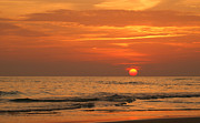 Beach Sunsets Photo Posters - Florida Sunset Poster by Sandy Keeton