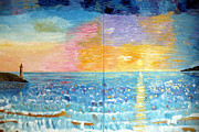 Contemporary Reliefs - Florida Sunset by Vicky Tarcau