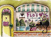 Flo's Flowers Print by Lucia Stewart