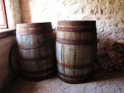 Straps Prints - Flour Barrels Print by Barry Ulrich