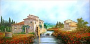 Sicily Paintings - Flour Mill river by Luciano Torsi