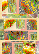 Bold Digital Art Originals - Flourish of Fab Flowers Tea Cozy Collage by Gretchen Wrede