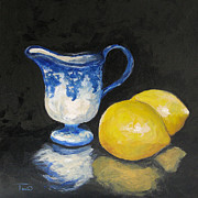 Lemons Originals - Flow Blue Creamer and Lemons by Torrie Smiley