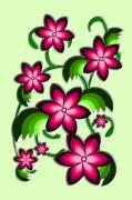 Flower Arrangement Print by Anastasiya Malakhova