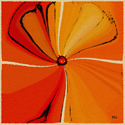Tangerine Posters - Flower Arrangement Poster by Ben and Raisa Gertsberg