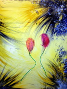 Balloon Flower Mixed Media Prints - Flower Balloon  Print by Tony Artz