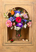 Heem Art - Flower Bouquet on Closed Niche by Levin Rodriguez
