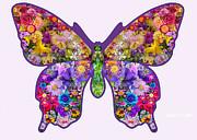 Flower Butterfly Print by Alixandra Mullins