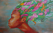 Idea Pastels - Flower Child by Idorenyin Sam Awak