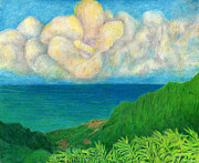 Tropical Drawings - Flower Cloud by Kenneth Grzesik