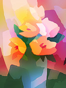 Flower Design Digital Art Posters - Flower Deco II Poster by Lutz Baar