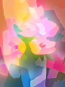 Flower Design Digital Art Prints - Flower Deco III Print by Lutz Baar