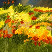 Picturesque Painting Prints - Flower Fantasy Print by Madeleine Holzberg