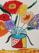 Primitive Drawings - Flower Form by Mary Carol Williams