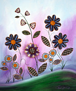 Fabric Mixed Media - Flower Fun by Danise Abbott