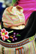 Flower Hmong Baby 02 Print by Rick Piper Photography