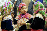 Flower Hmong Women Print by Rick Piper Photography