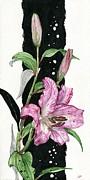 Flower Lily 02 Elena Yakubovich Print by Elena Yakubovich