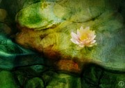 Pond Digital Art Posters - Flower of hope Poster by Gun Legler