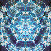 Tie Dye Tapestries - Textiles Metal Prints - Flower of Life Metal Print by Courtenay Pollock