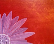 Jessie Art Art - Flower on Metallic Background by Jessie Art