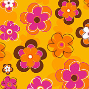 Police Paintings - Flower Pattern 2 by Esteban Studio