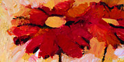 Flowers Impressionist Paintings - Flower Pow by Lutz Baar