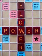 Board Game Digital Art Posters - Flower Power - Games Poster by Susan Carella