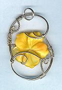 Orange Jewelry Originals - Flower Power by JoLen Confer