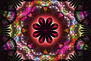 Fractal Designs Prints - Flower Power Print by Sandy Keeton