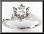 Roi Avidar - Flower Round Diamond 14k...