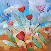 Flower Painting Metal Prints - Flower Square Metal Print by Lutz Baar
