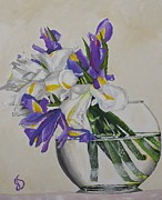 Joyce Sherwin - Flower Vase with Iris
