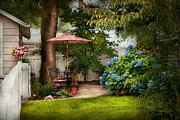 Umbrella Prints - Flower - Westfield NJ - Private paradise Print by Mike Savad