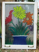 Featured Glass Art - Flower Window by Kathleen Barlow
