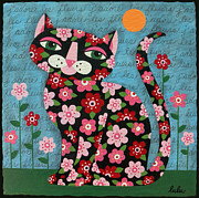 LuLu Mypinkturtle - Flowered Calico Black Cat
